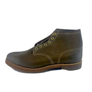 """Vintage Men's Horsehide Leather Crane 6"""" Work Boots Unworn 11 3E 11710 4405"""