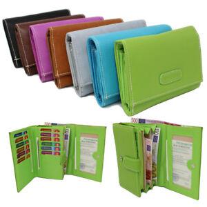 Damen Geldbörse Damenbörse Portemonnaie Geldbeutel Börse Quermodell Farbwahl