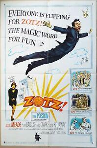 ZOTZ 1962 William Castle sci-fi comedy Tom Poston Original US One Sheet Poster