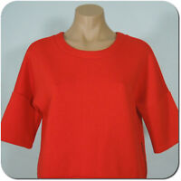 ANN TAYLOR LOFT Women's Red Top, 3/4 Sleeves, Side Zipper, Thick Fabric,size XS