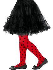 Child Girls LadyBird Red Black Spots fancy Dress Costume Book Week Tights