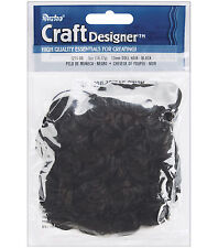 M00824 MOREZMORE Curly Doll Hair BLACK Artificial 13 mm Curls 0.5 oz T20
