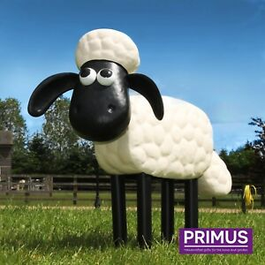 Primus Metal Shaun the Sheep Official Garden Ornament Figure Sculpture Gift Idea