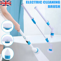 Adjustable Electric Spin Scrubber POWERFUL Turbo Scrub Cleaning Brush Cordless