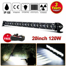 20inch 120W LED LIGHT BAR COMBO Offroad TRUCK DRIVING 4X4WD WITH FREE Wiring Kit