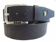 Cintura Belt 100% Pelle Made in Italy MARINA MILITARE Man Uomo Nero Black MYB058