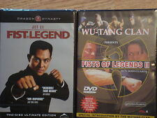 Jet Li Fist of Legend 1 and 2 Iron Bodyguards Brand New DVD Video Bundle Sealed