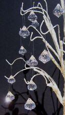Christmas Wedding Tree Ornaments Crystal Like Faceted Tear Drops Miniature Mini