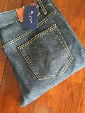 GANT BOB  DARCK RAW BLUE DENIM JEANS (W32-L32)$ 198