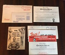 CHARLES ATLAS - HOW DYNAMIC-TENSION MAKES YOU A NEW MAN Brochure & More!