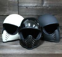 Full face motorcycle helmet vintage retro for sale novelty MOTO3 custom cool