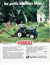 Publicité Advertising 088  1984   Yvan Béal  tracteur bleu  Iseki
