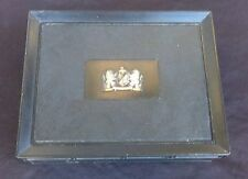 Vintage Black Lion Design Shield Motif Plastic Cigar Box 1950's 1960's