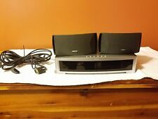 BOSE MODEL AV 3-2-1 MEDIA CENTER & CINEMATE GRAPHITE BLACK SPEAKERS WITH CABLES
