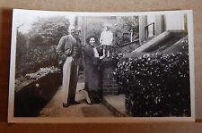 Photograph social History 1930's Proud Grandparents with Grand daughter