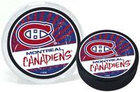 Montreal Canadiens Reverse Retro 3D Textured Classic Puck (in Display Tube)