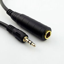 """Stereo 6.35mm 1/4"""" Female Jack To 3.5mm 1/8"""" Male Headphone Adapter Cable 30cm"""