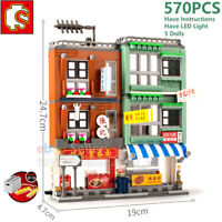 Sembo City Hongkong Street View Building Blocks Bricks Wall Lot 601095 Fit Mega