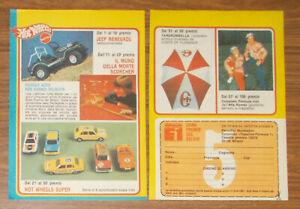 Vintage 1981 Mattel DRIVE COMMAND Jeep Renegade Hot Wheels Print Ad Italian