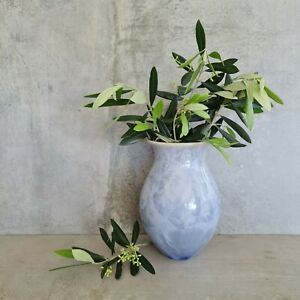Rod Page Crystalline Pottery Vase Pastel Blue Signed  Australia Artisan 16.7cm