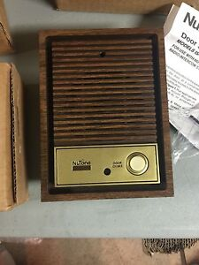 Nutone IS-67D Woodgrain Intercom Door speaker lighted pushbutton IM-4006 IM-3003
