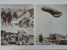 1915 AIR WAR ANTI-AIRCRAFT LISTENING POST SEARCHLIGHT RFC WWI WW1 DOUBLE PAGE