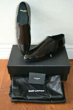 $1095 Saint Laurent Connor Crop Patent Leather Chelsea Boots Shoes - Sz 10 D