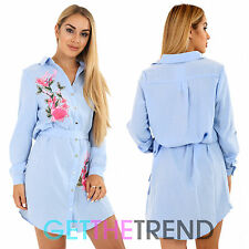 Womens Shirt Ladies Summer Long Sleeve Denim Wear Women Loose Top Fashion Dress