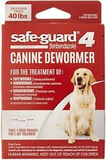 Safe-Guard 4 (Fenbendazole) Canine Dewormer Each Pouch Treats 40 Lbs *NEW*