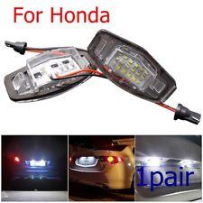 For Honda Civic Accord Legend LED License Plate Light Error Free Tail Lamp White