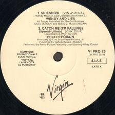 VARIOUS (WENDY & LISA / PRETTY POISON / FEARGAL SHARKEY / T'PAU) Virgin - Italy