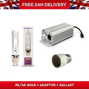 315w CDM CMH Digital dimmable Daylight  3100k 4200k Grow Light Kit ballast