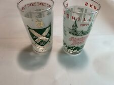 Kentucky Derby Churchill Downs 1970 1971 Julep Frosted Glass