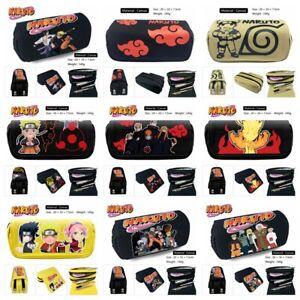 Anime Uchiha Sasuke Pencil Case Segeltuch Federmäppchen Kosmetiktaschen Geschenk