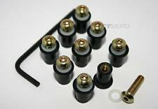 Ducati Wind Screen Shield screws & rubbers kit 748 916 996 998 GOLD