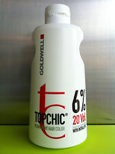 GOLDWELL TOPCHIC DEVELOPER LOTION CREME 6% 20VOL 1000ML