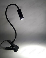 Soft Pipe 3W LED Desk Clamp Clip Light Fixture Button Plug Picture Lamp Bedroom