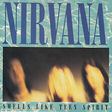 "NIRVANA Smells Like Teen Spirit & Drain You PICTURE SLEEVE 45 rpm 7"" record RARE"