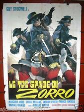 Le Tre Spade di Zorro {Guy Stocwell} Italian 2F Movie Poster 1960s