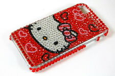 Red Hello Kitty Bling Hard Cover Case For iPhone 4 4S I C02