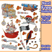 #625A Pirate Treasure Flag Compass Boy Girl Party Reward Craft Card Stickers