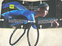 IM ACTIVE Ponytail holder or Hair ties 4 Packs of 2  All Sports no metal black