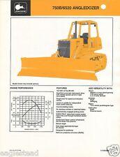 Equipment Brochure - John Deere - 750B 6520 - Angle Bull Dozer- 1985 (EB413)
