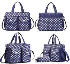 3PCs Blue Baby Nappy Changing Diaper Bag Set 3in1 Rug, Bottle Holder, Bag Blue