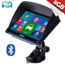 "XGODY 7"" Inch Car GPS Navigation SAT NAV 8GB Bluetooth Navigator with Sunshade"