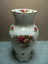 "9"" Tall Flower Vase - Royal Albert Old Country Roses - Bone China - England"
