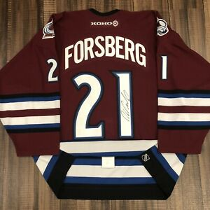 Autographed Authentic Peter Forsberg Colorado Avalanche NHL Hockey Jersey 52
