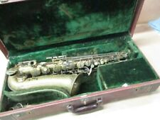 Buescher Alto Saxophone USA w/ case/neck/MP/strap, acceptable condition