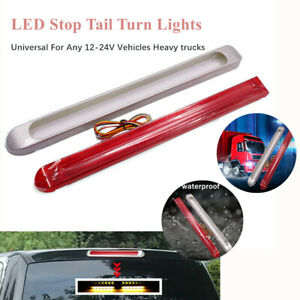1pc Car Trailer Turn Signal Brake Tail Lamp Red+Yellow RV Light Wterproof 47 LED