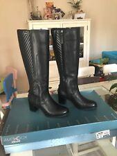 bottes en cuir noir de marque GEOX femme taille 37 neuves